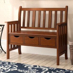 Mcniel Wood Storage Bench by Three Posts