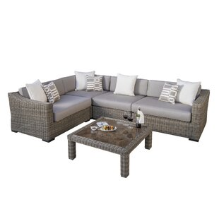 Monroeville Deluxe 5 Piece Sunbrella Sectional Set with Cushions