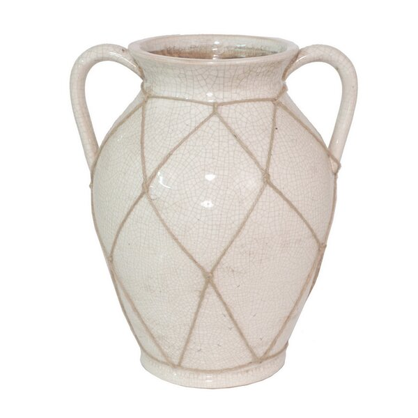 White Vase With Handles Wayfair