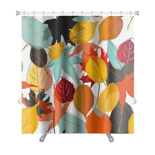 Read Reviews Leaves Leaf Pattern with Warm Colors of Autumn Premium Shower Curtain By Gear New