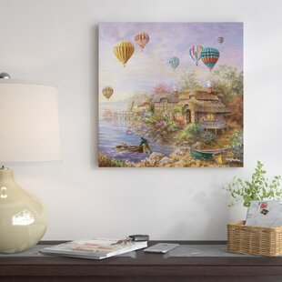 Air Balloons Over Cottageville Painting Print On Canvas