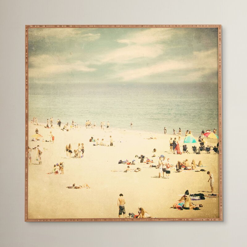 Beachcrest Home Vintage Beach Framed Photographic Print Plaque ...