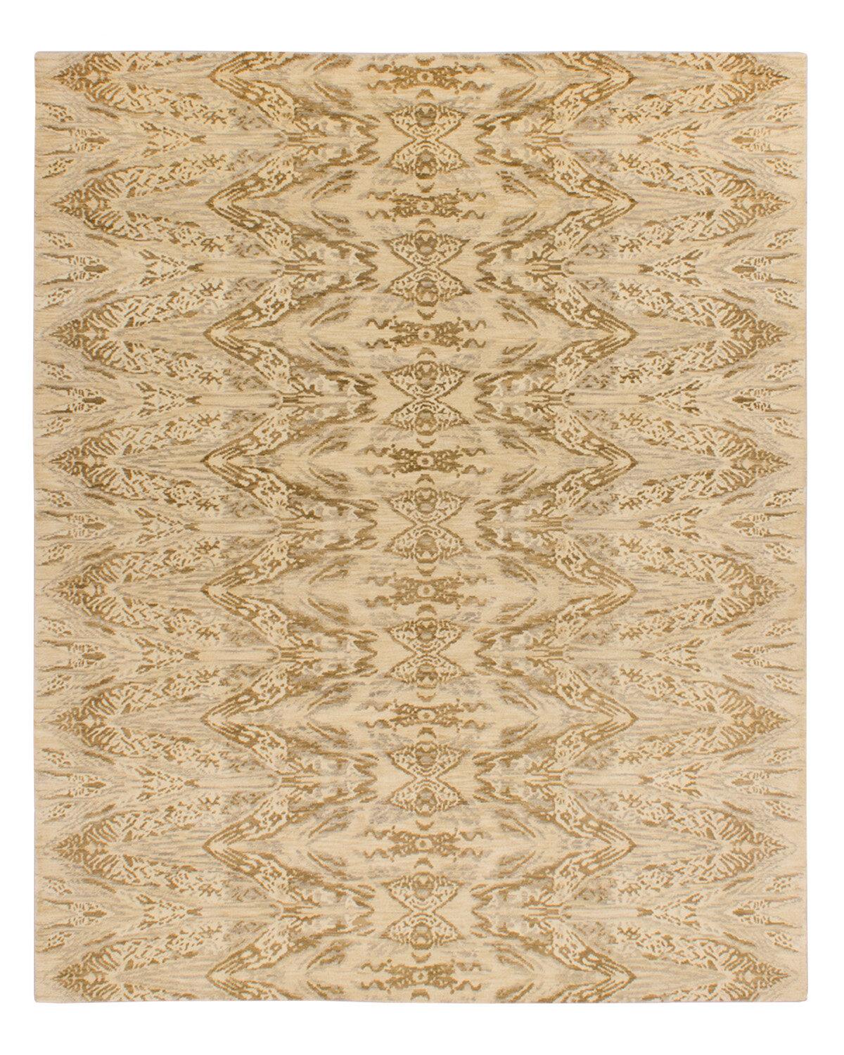 Solo Rugs Grit And Ground Abstract Hand Knotted Wool Beige Area Rug Wayfair