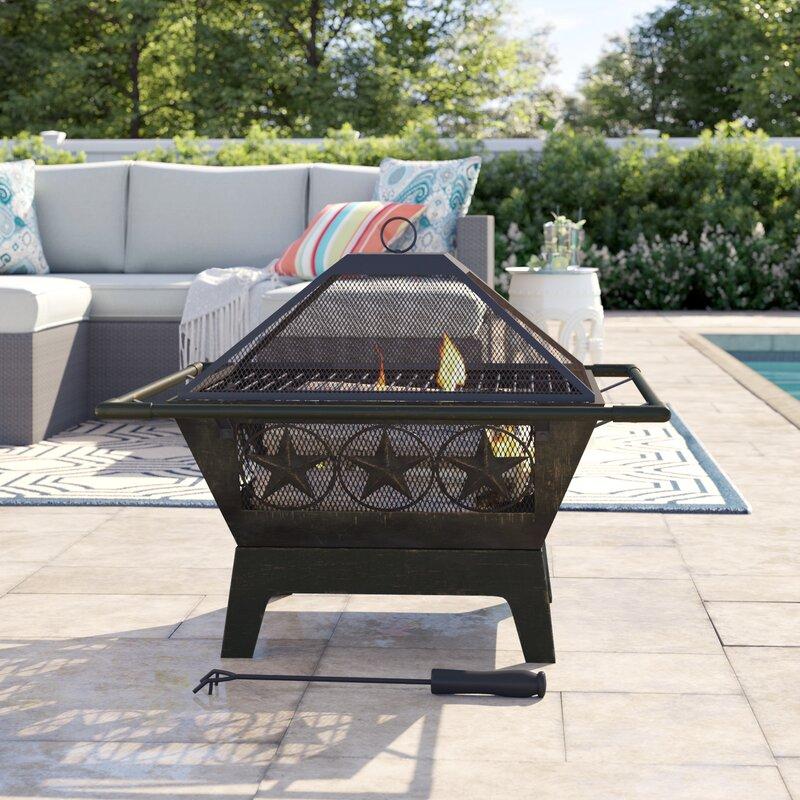 Sol 72 Outdoor Roswita Steel Wood Burning Fire Pit Reviews Wayfair