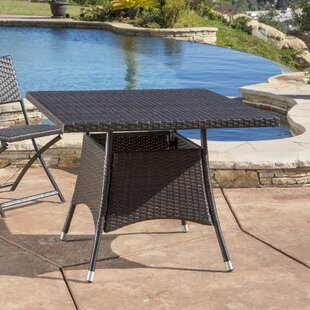 Brissette Outdoor Wicker Bistro Table