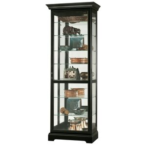 Chesterfield Lighted Curio Cabinet by Howard Miller®