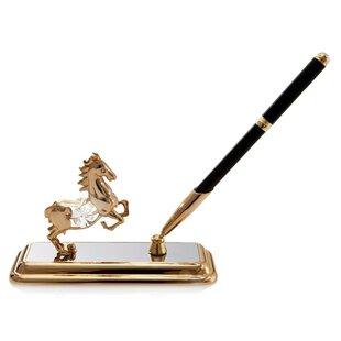 Matashi Crystal Horse Pen Holder