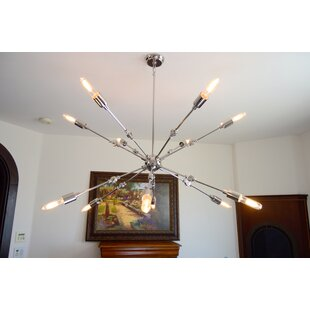 Wrought Studio Tibbits 12-Light Sputnik Chandelier