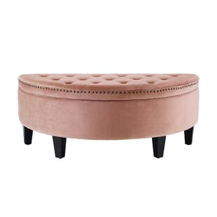 Venne Half Moon Tufted Storage Ottoman by Charlton Home