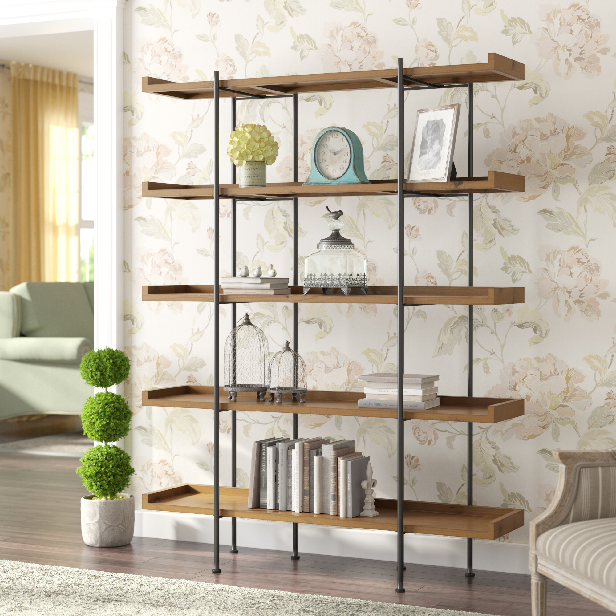 Louis Classical Elegant Fashion Bookcases Side Table Display Stand Statement