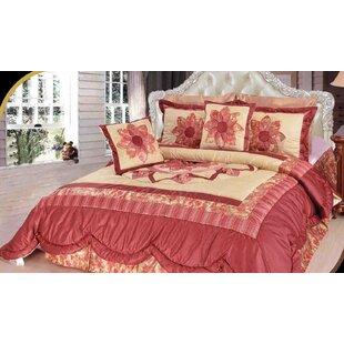 August Grove Balmer Floral Patchwork Comforter