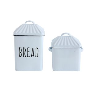 Stratton Enameled Bread Box with Lid