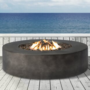Living Source International Santiago Concrete Propane/ Natural Gas Fire Pit Table