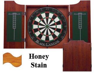 Dart Board Cabinet in Honey Black Canyon