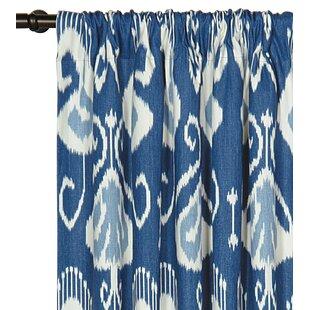 Ceylon Ikat Semi Sheer Rod Pocket Single Curtain Panel