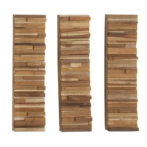 Wood Block Panel Wall Du00e9cor
