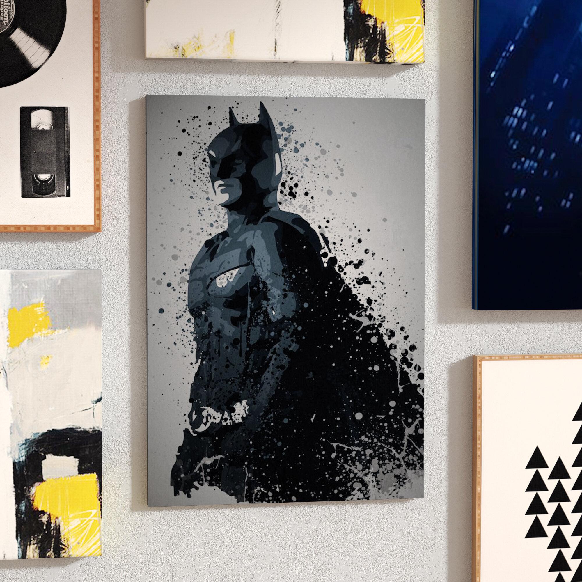 BATMAN ICONIC MOVIE POP ART CONTEMPORARY CANVAS PRINT READY TO HANG