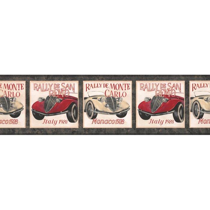 York Wallcoverings Vintage Race Cars Retro Design 15 L X 7 W