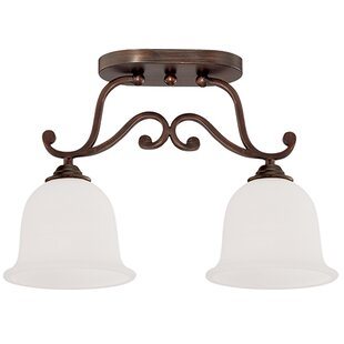 Beau 2-Light Semi-Flush Mount by Fleur De Lis Living