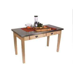 Cucina Americana Prep Table with Stainless Steel Top John Boos