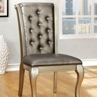 Suzan Upholstered Dining Chair (Set Of 2) by House of Hampton Comparison