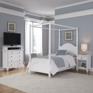 Harrison Twin Canopy 3 Piece Mahogany Bedroom Set