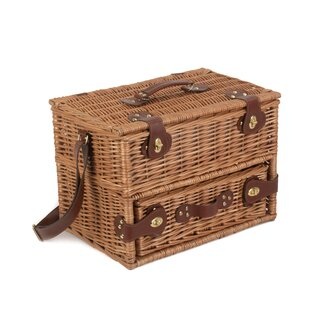4 Person Tweed Drawer Picnic Basket By Union Rustic