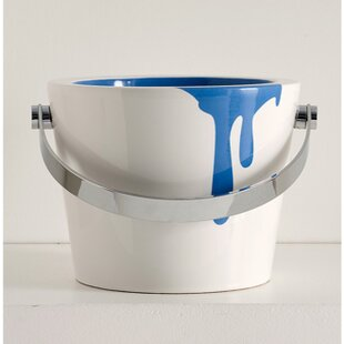 Great Price Bucket Ceramic Circular Vessel Bathroom Sink with Overflow ByScarabeo by Nameeks