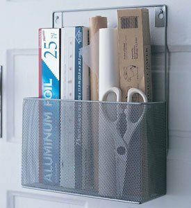 Mesh Wall Mount Kitchen Cabinet Door Organizer