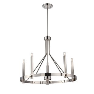 Amhold 6-Light Wagon Wheel Chandelier by ..
