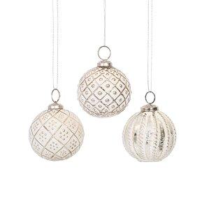 glass ornament assortment set set of 6