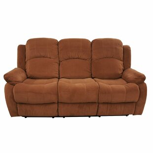 Traditional Brush Microfiber Reclining Sofa by Madison Home USA