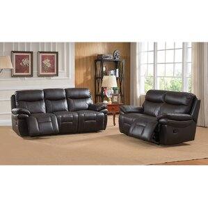 Rushmore 2 Piece Leather Living Room Set by Amax