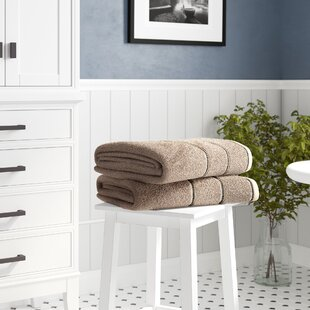 Hughes Zero Twist 2 Piece Cotton Bath Sheet Set