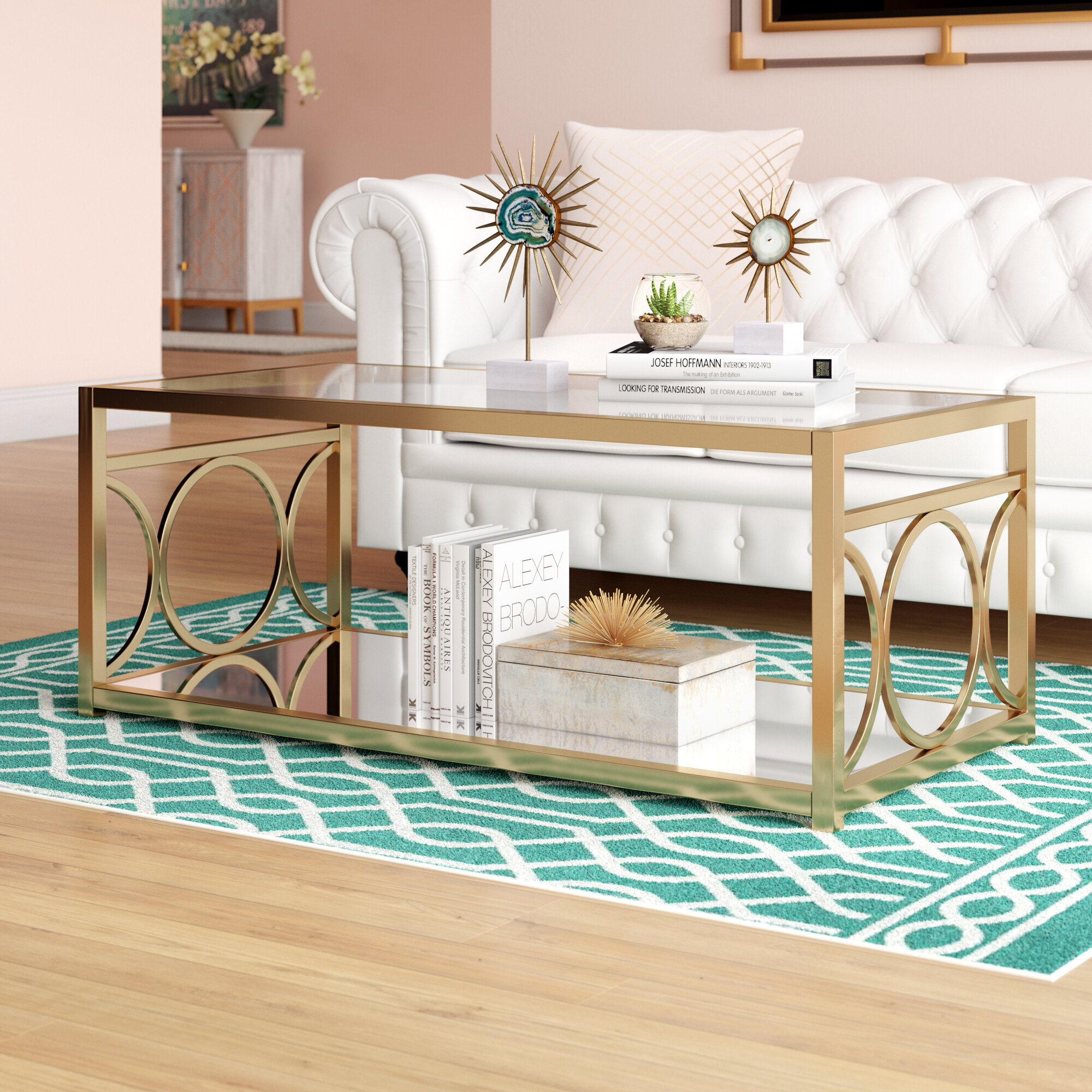 Glass Modern Contemporary Coffee Tables Free Shipping Over 35 Wayfair [ 2000 x 2000 Pixel ]