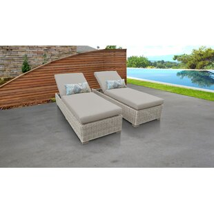 Coast Sun Lounger Set with Cushion and Table (Set of 2)