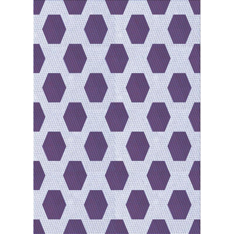 East Urban Home Aviana Geometric Wool Purple Area Rug Wayfair