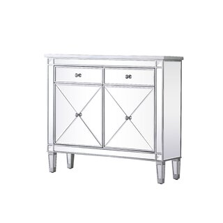 2 Door Mirrored Apothecary Square Accent Cabinet by Prestige SKU:CA112192 Purchase