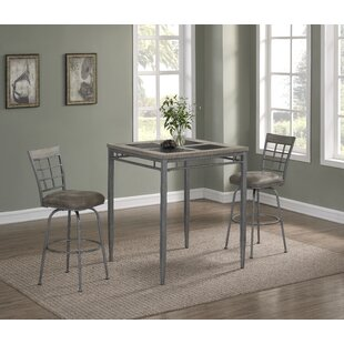 Perreira 3 Piece Pub Table Set Latitude Run