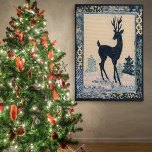 'Deer Silhouette' Photographic Print on Wrapped Canvas