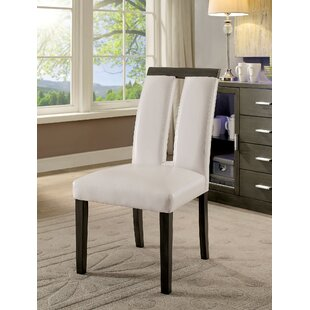 Walls Upholstered Dining Chair (Set of 2) Orren Ellis