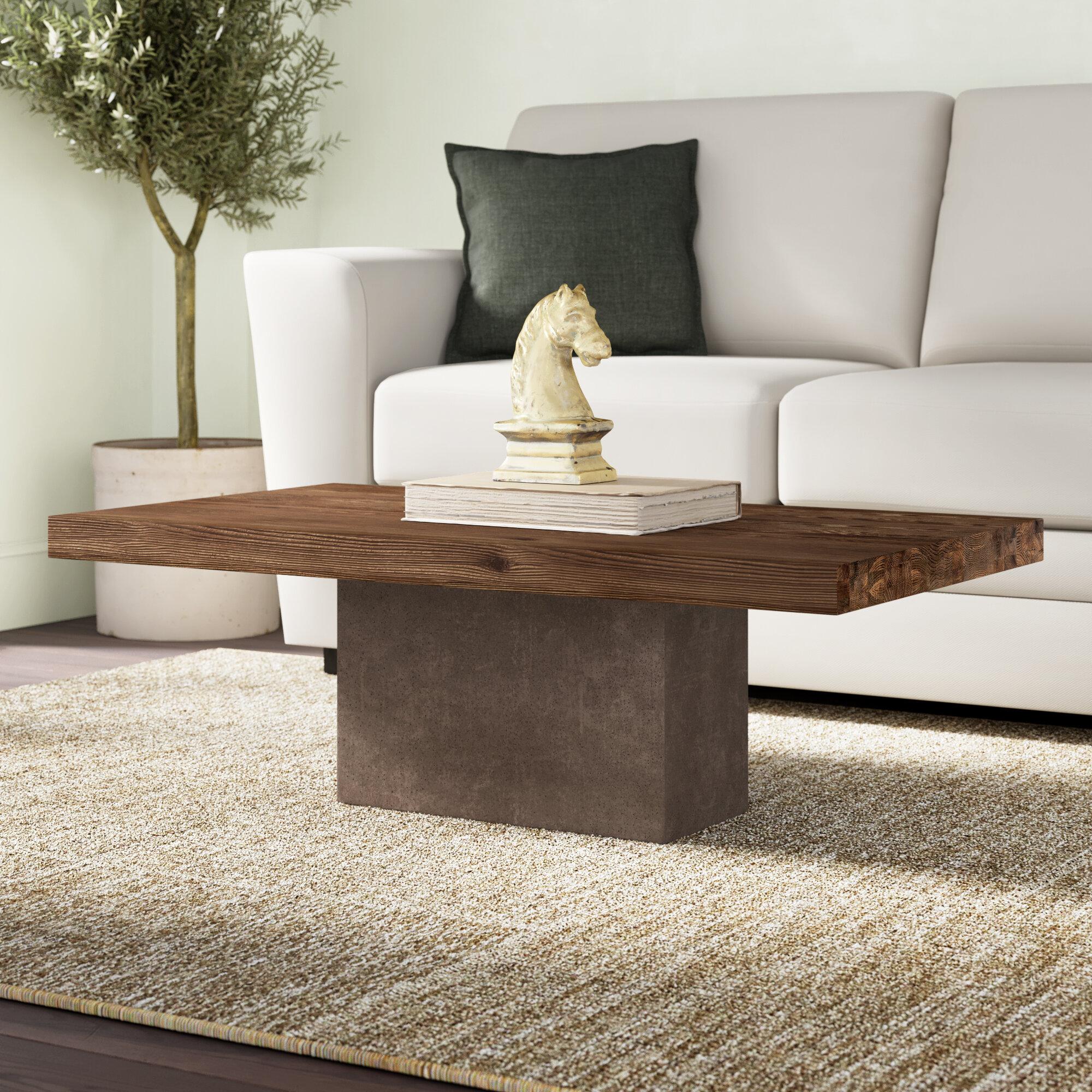 - Greyleigh Amberly Pedestal Coffee Table Wayfair.ca
