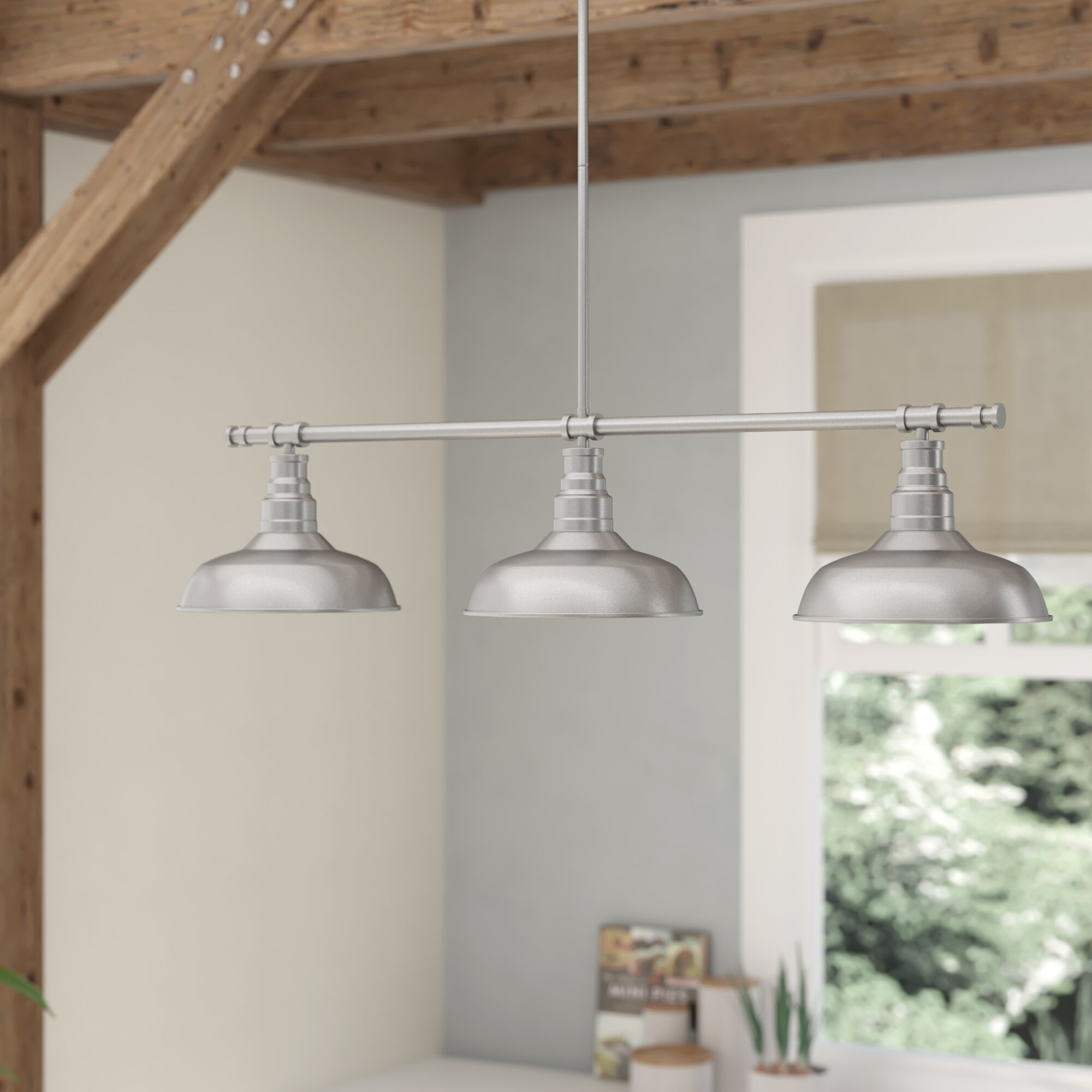 Laurel foundry modern farmhouse stephine 3 light kitchen island pendant reviews wayfair