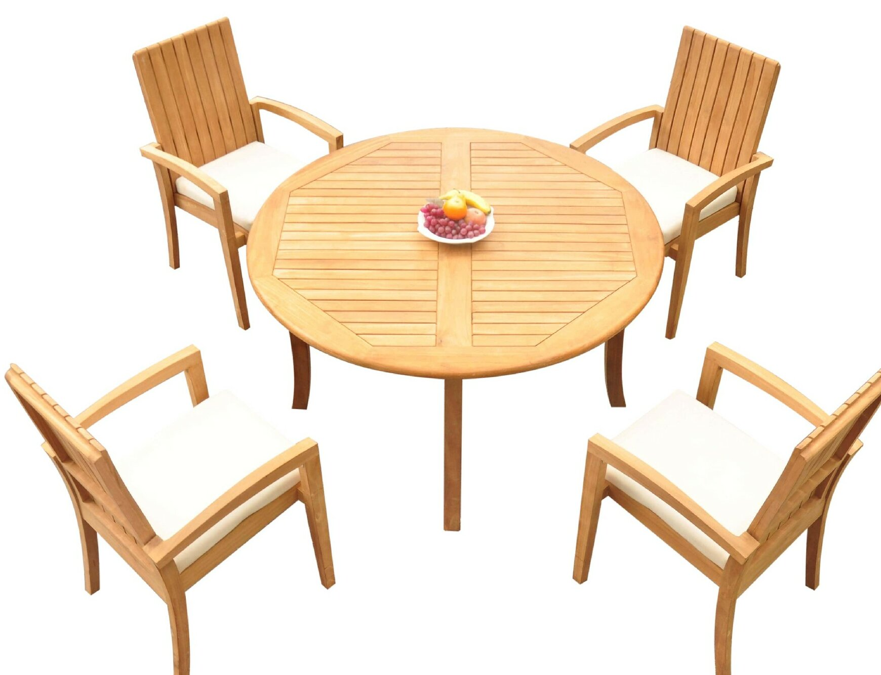 Bayou Breeze Webber 5 Piece Teak Dining Set Wayfair