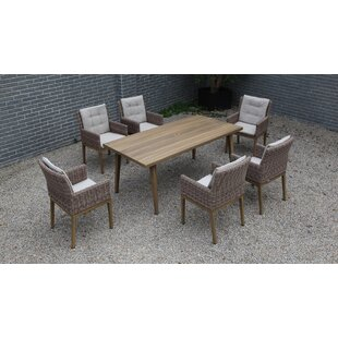 Holder 7 Piece Dining Set with Cushions (..