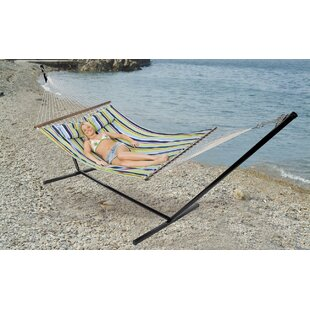 Double Antigua Cotton Hammock with Stand by Stansport