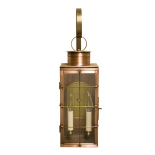 Longshore Tides Kyle Single Stack 2-Light LED Outdoor Wall Lantern