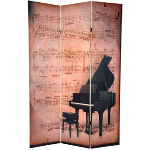 East Urban Home Piano 3 Panel Room Divider