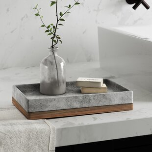 Affordable Stonington Concrete Stone/Wooden Amenity Tray ByGreyleigh