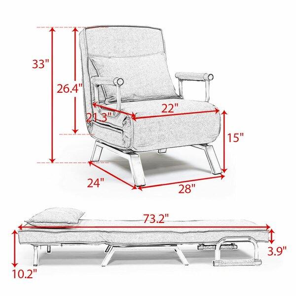 George Oliver Sharla 28 W Convertible Chair Wayfair